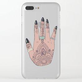 Boho Hand Clear iPhone Case