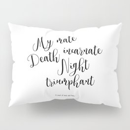 death incarnate (a court of mist and fury) Pillow Sham