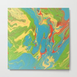 Paint Pouring 7 Metal Print