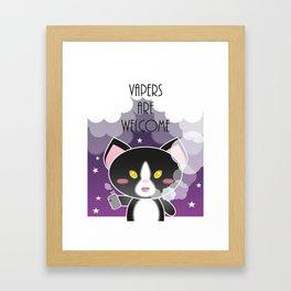 Vapers are Welcome (kitten edition) Framed Art Print