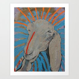 Goathead Art Print