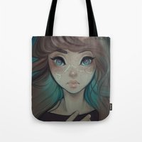 astrology Tote Bags featuring Astrology by Cyarin