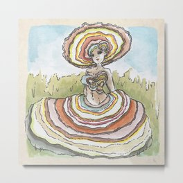 Empire of Mushrooms: Trametes versicolor Metal Print