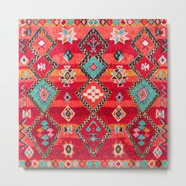 Epic Red Oriental Anthropologie Berber Atlas Moroccan Style Metal Print