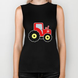 Red toy tractor Biker Tank