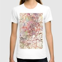 austin T-shirts featuring Austin by MapMapMaps.Watercolors