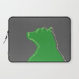 Papa bear in the dark - green Laptop Sleeve