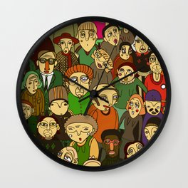 people's diversity Wall Clock