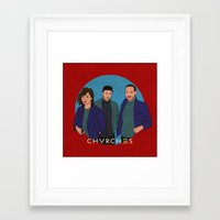 chvrches Framed Art Prints featuring CHVRCHES by Sharin Yofitasari