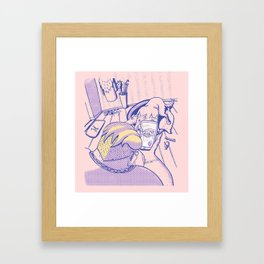 Modern day Hercules Framed Art Print