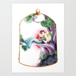 Sleeping Beauty, Cage Art Print