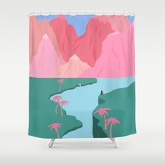 Girls' Oasis Shower Curtain