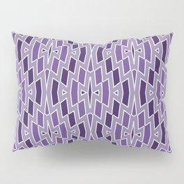 Fragmented Diamond Pattern in Violet Pillow Sham