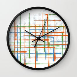 Abstract / Geometry - Colorful Terminal Wall Clock