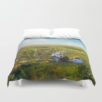sister Duvet Covers featuring Brother, Sister by Ginger Kelly Studio