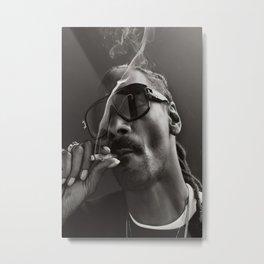 Snoop Dogg Poster Rapper Music Artist Smoking Weed Photo Poster Metal Print