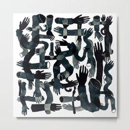 Dark Hands Metal Print