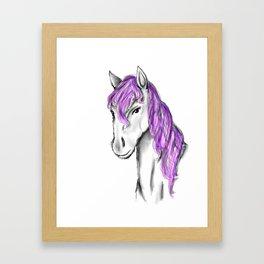 Princess Horse Framed Art Print