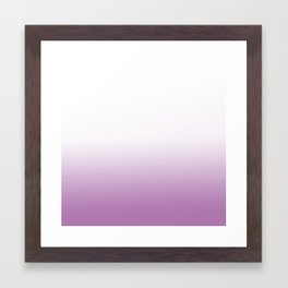 purple and white ombre Framed Art Print