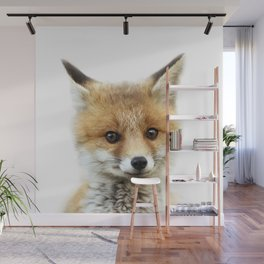 Fox Print by Zouzounio Art Wall Mural