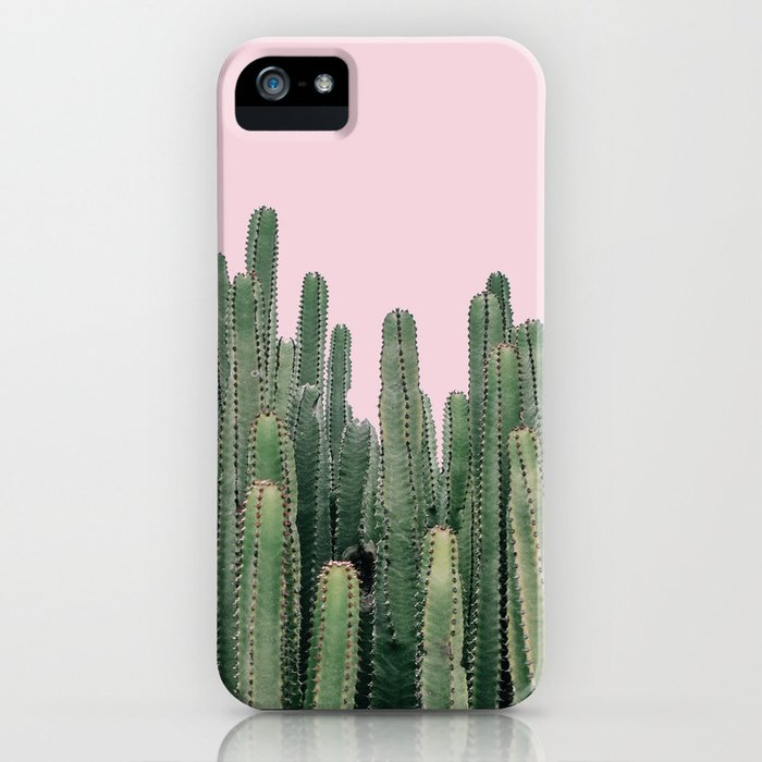 Pink Sky Cactus iPhone Case