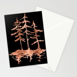 THE THREE SISTERS Trees Rose Gold Stationery Cards