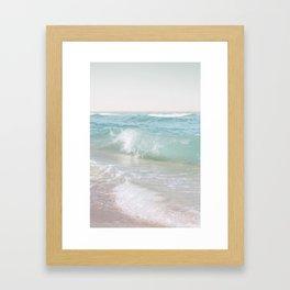 Beach Waves   Photography Summer Vibes   Sun Fun   Water Ocean   Salt   Sea Framed Art Print