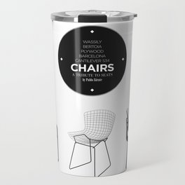 CHAIRS - A tribute to seats (minimalistic version) Travel Mug