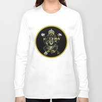ganesha Long Sleeve T-shirts featuring GANESHA by Dianah B