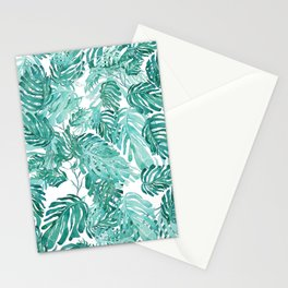 Monstera pattern Stationery Cards