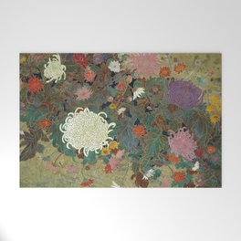 flower【Japanese painting】 Welcome Mat