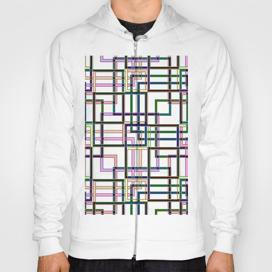 Abstract geometric pattern. Hoody