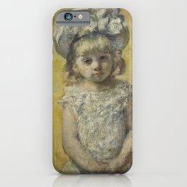 Mary Cassatt - Portrait of a Little Girl iPhone Case