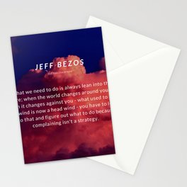 Jeff Bezos Quote On Leaning In To The Future Stationery Cards