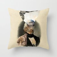 warrior Throw Pillows featuring Warrior by DIVIDUS