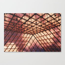 Glass Pyramid // Louvre Canvas Print