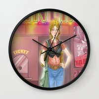 cinema Wall Clocks featuring cinema by ErsanYagiz