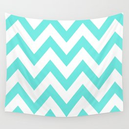 TEAL CHEVRON Wall Tapestry