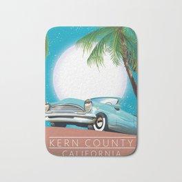 Kern County California vintage style travel poster Bath Mat