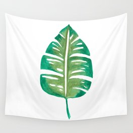 Banana Leaf Watercolor Painting Wall Tapestry