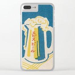 Vintage Japanese Beer Mug Clear iPhone Case