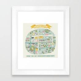 Neighbourhood Map Framed Art Print