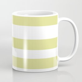 VA Lime Green - Lime Mousse - Bright Cactus Green - Celery Hand Drawn Fat Horizontal Lines on White Coffee Mug