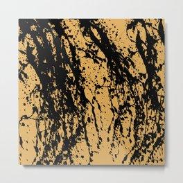 Brown Splatter Metal Print