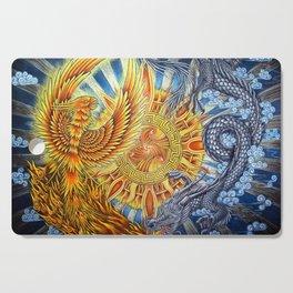 Chinese Phoenix and Dragon Mandala Cutting Board