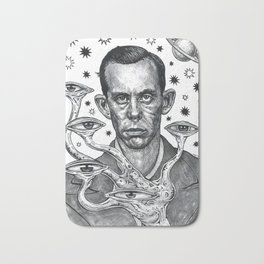 Dorf The Intergalactic Inquisitor from Planet X Bath Mat