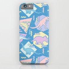 Nineties Dinosaurs Pattern  - Pastel version iPhone 6 Slim Case