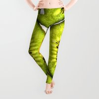 fruit Leggings featuring Kiwi Fruit by Bruce Stanfield