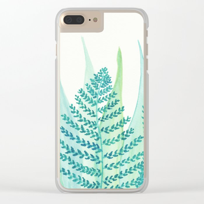 Botanical vibes 05 Clear iPhone Case