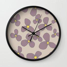 Three-leaf flower-power lilo Wall Clock